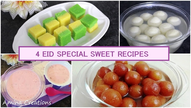 4 EASY AND INSTANT EID SPECIAL SWEET RECIPES WITH VIDEO