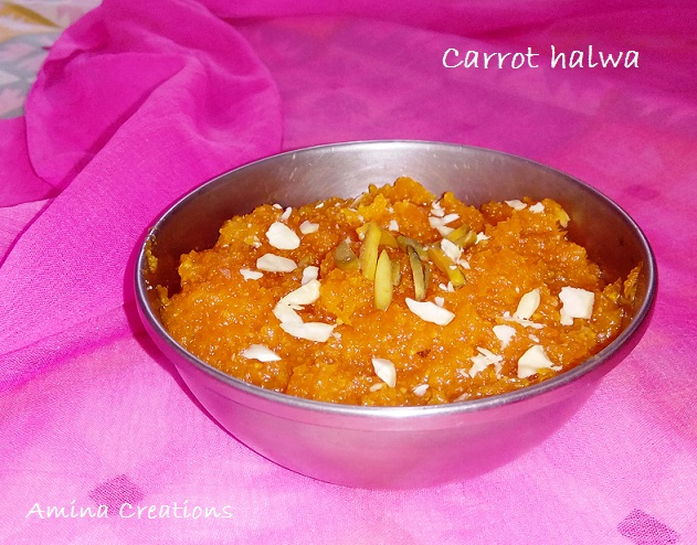 CARROT HALWA IN A PRESSURE COOKER