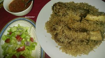 அரபிக் ஸ்டைல்  மட்டன் பிரியாணி / Arabic style mutton briyani