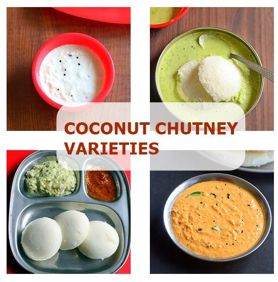 15 Coconut Chutney Recipes – Coconut Chutney Varieties For Idli, Dosa