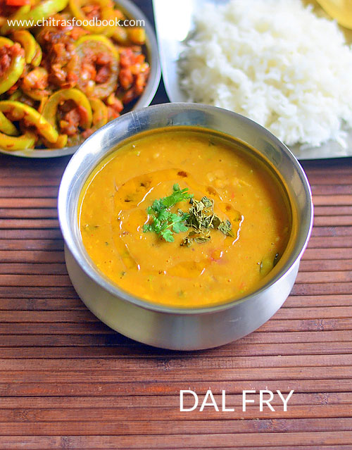 Restaurant style Dal Fry Recipe – Toor Dal Fry / Arhar Dal Fry Recipe