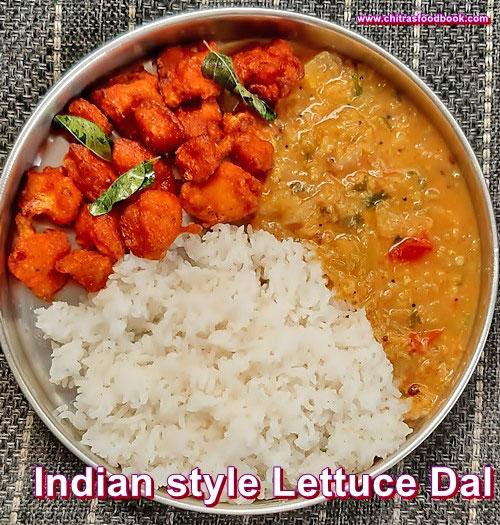 Lettuce Dal Recipe - Indian Lettuce Recipes