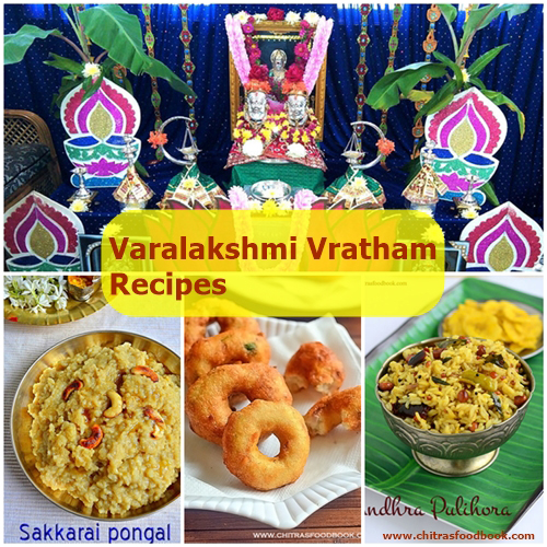 Varalakshmi Vratham Recipes – Varamahalakshmi Festival Recipes