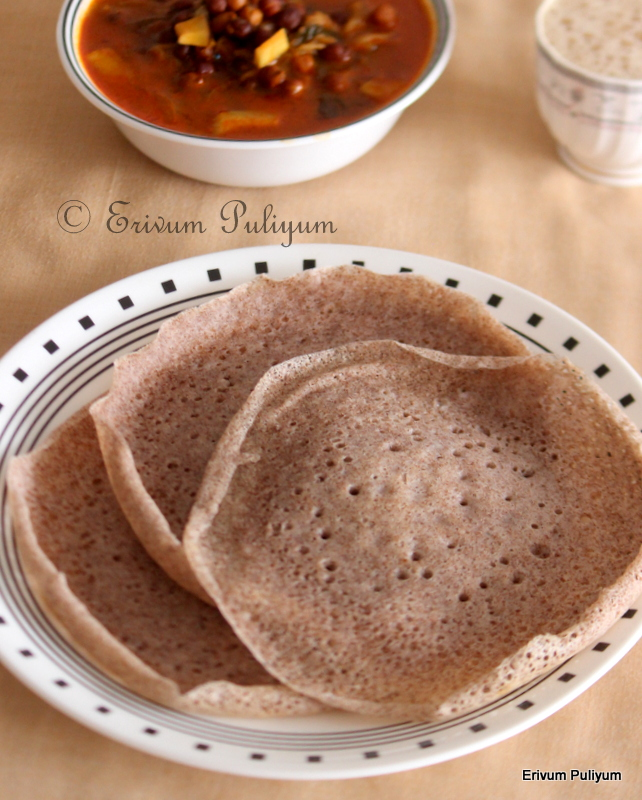 Ragi Paalappam (With and Without Yeast) | Finger Millet Appam ~ 2 Methods