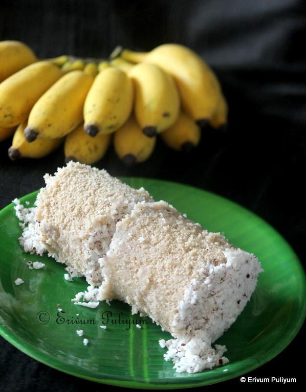 Chakka Podi Puttu | Steamed Raw Jackfruit Powder Puttu