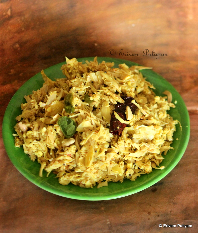 Idichakka Thoran | Raw Tender Jackfruit Stir Fry(Step by Step Pics)