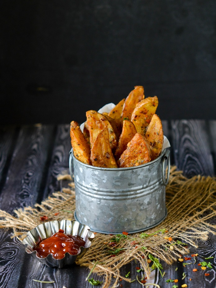 Potato Wedges, Crispy Spiced Potato Wedges
