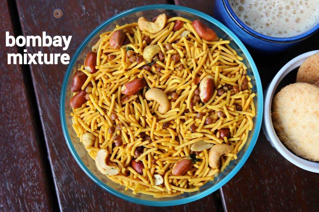 bombay mixture namkeen | bombay spicy nut mix | mumbai mixture chivda