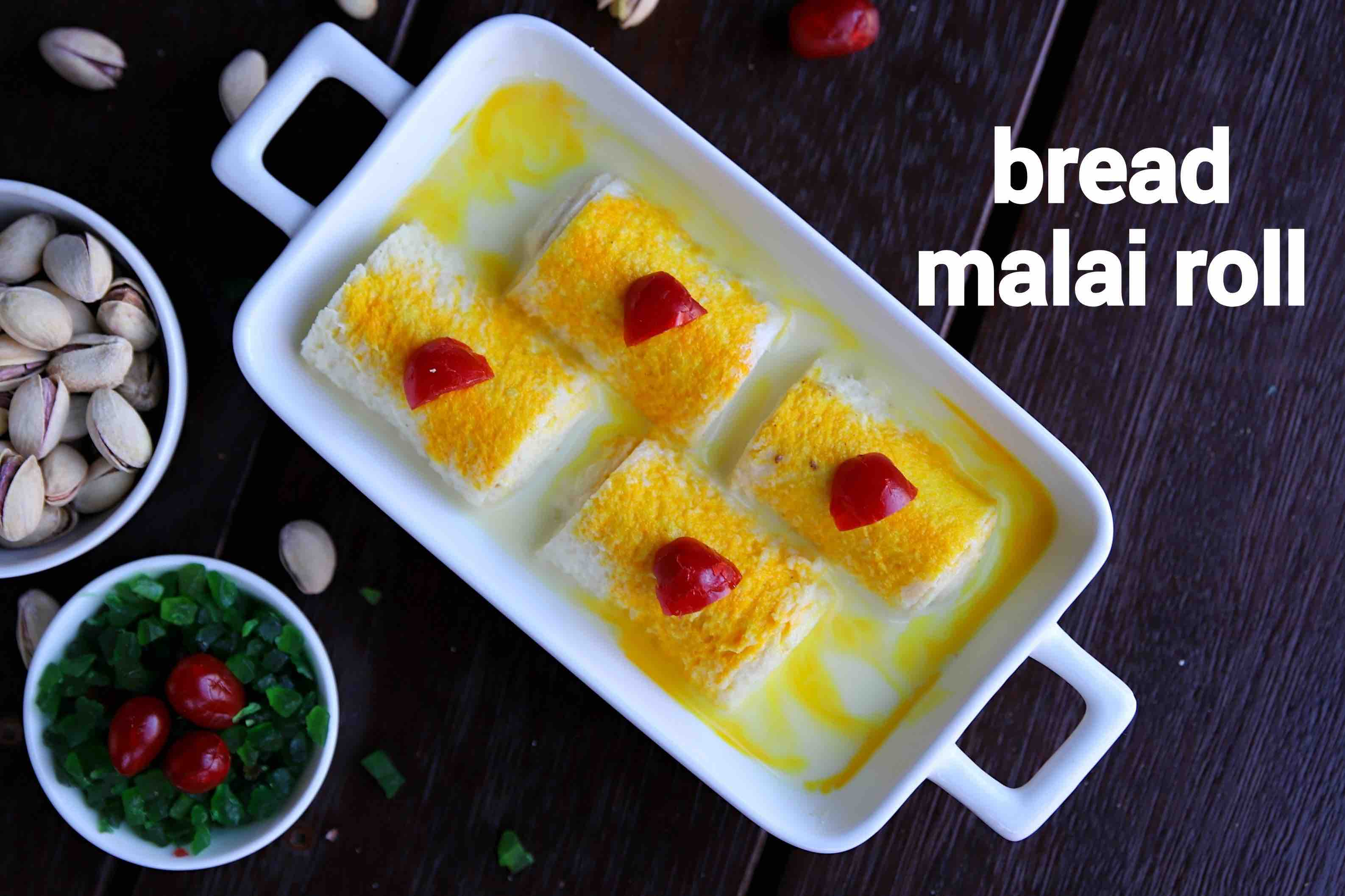 bread malai roll recipe | malai bread roll | instant rabri malai roll