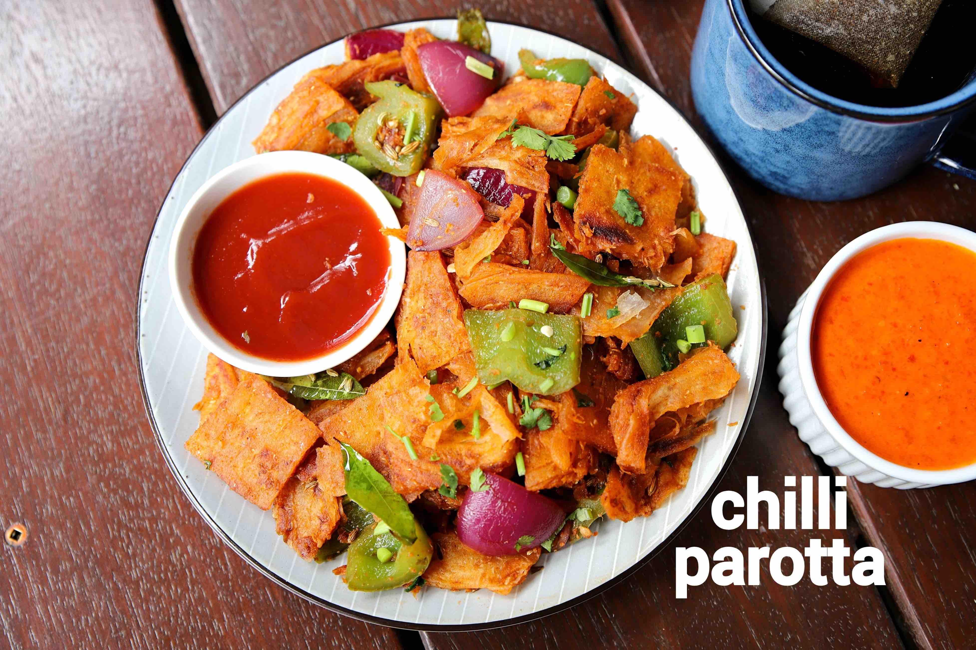 chilli parotta recipe | chilli paratha recipe | chilli kothu parotta