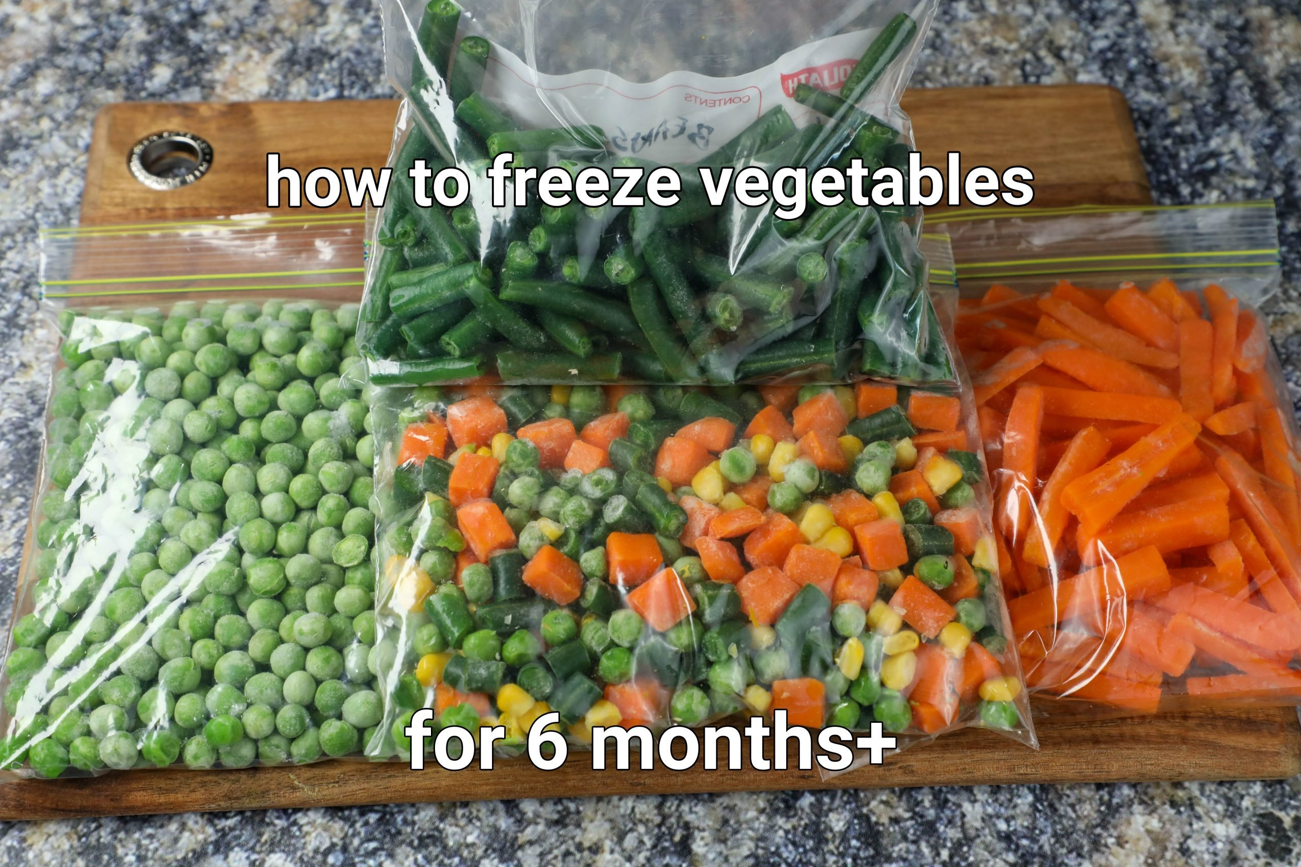how to freeze vegetables at home | frozen peas, green beans carrots & mixed vegetables