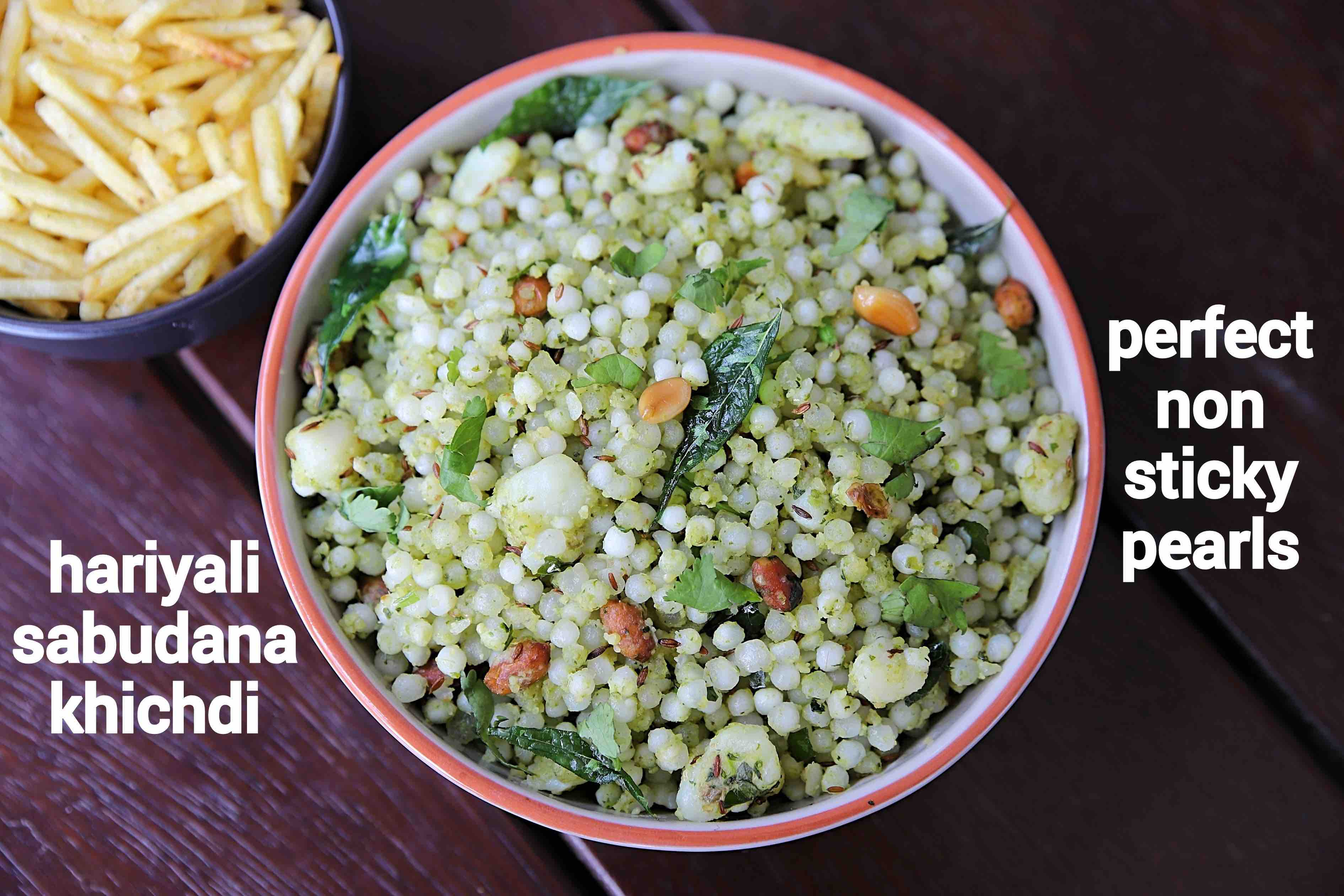 hariyali sabudana khichdi recipe   green sabudana khichdi