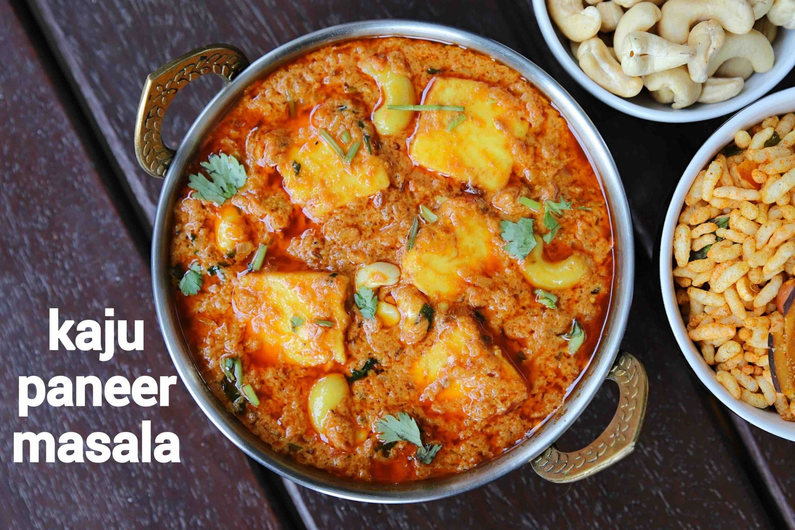 kaju paneer masala recipe | kaju paneer curry | paneer cashew curry