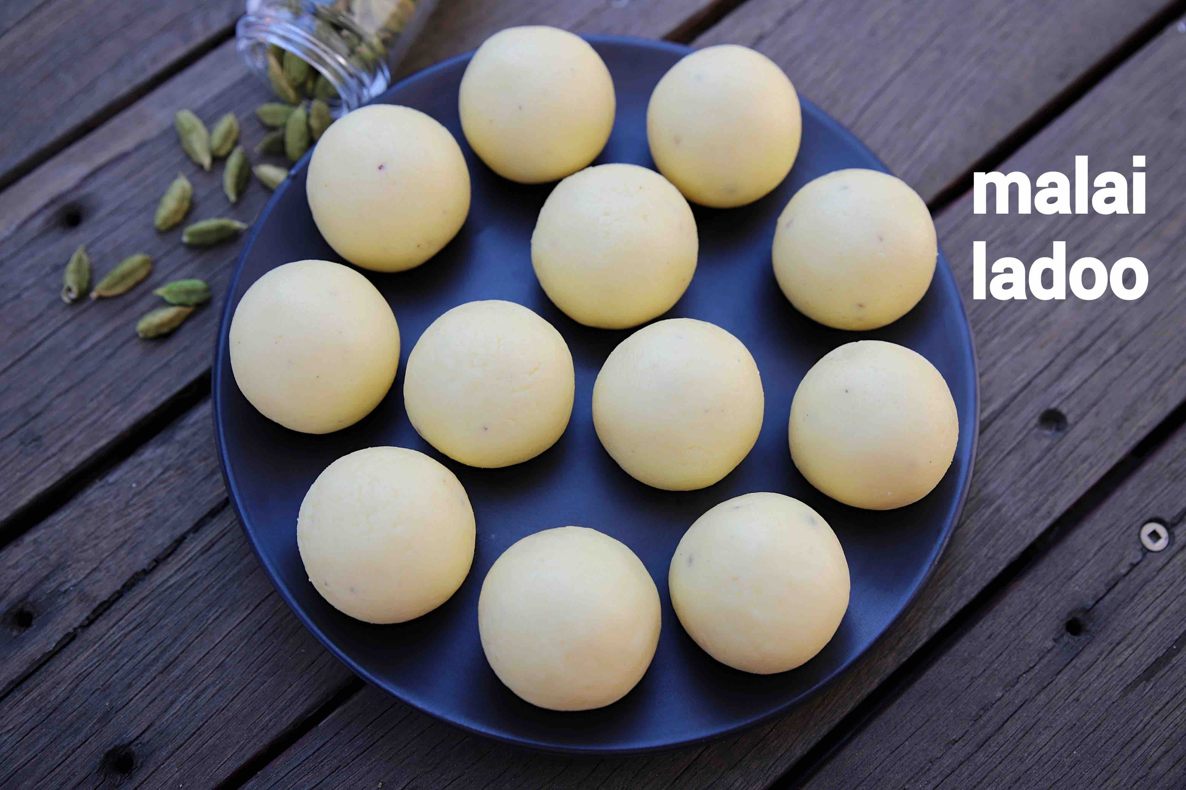 malai ladoo recipe | malai laddu | milk ladoo | paneer ladoo