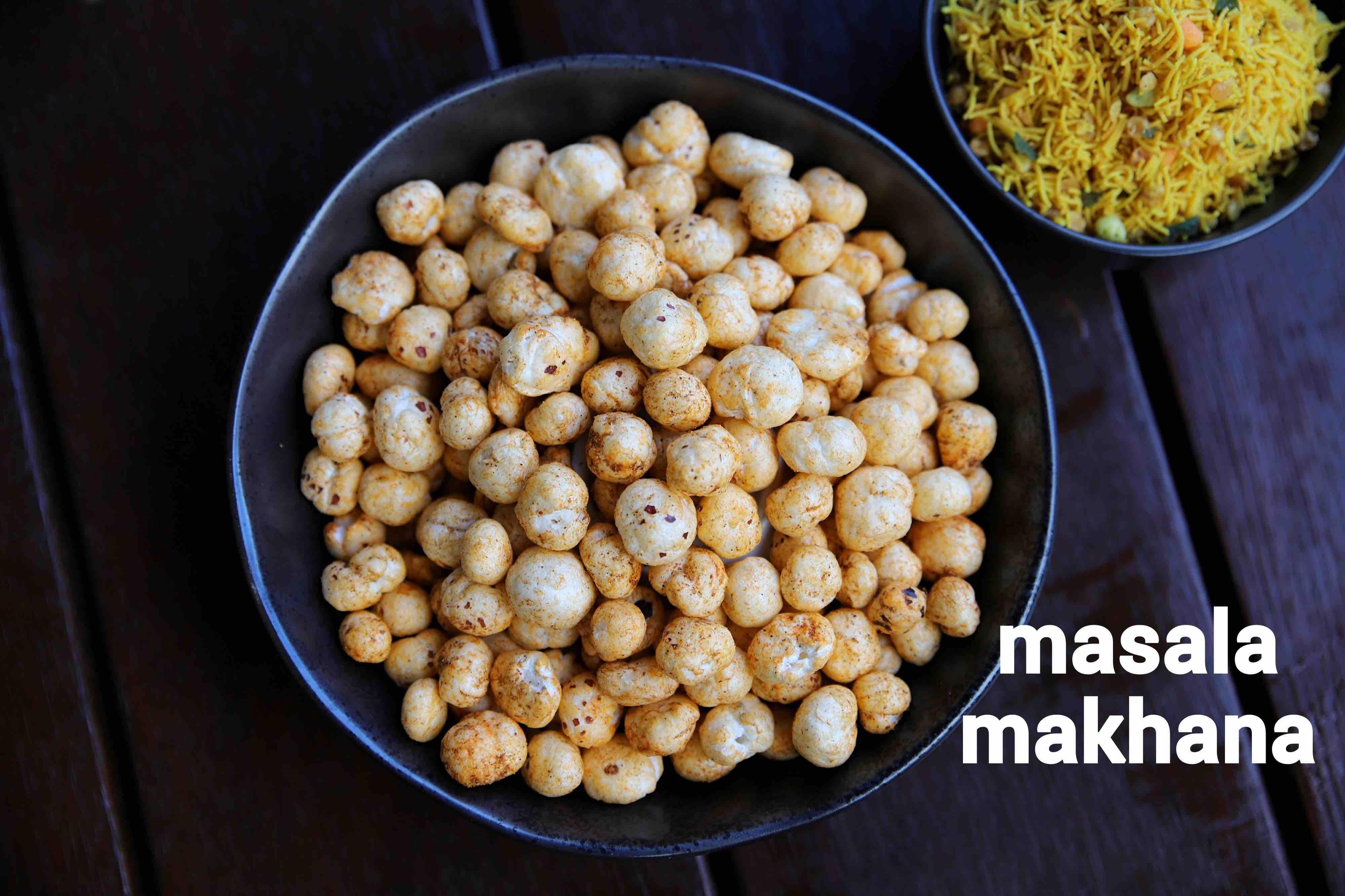 masala makhana recipe | phool makhana masala | roasted lotus seed