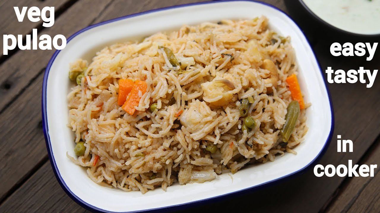 veg pulao recipe | vegetable pulao | how to make veg pulav in cooker