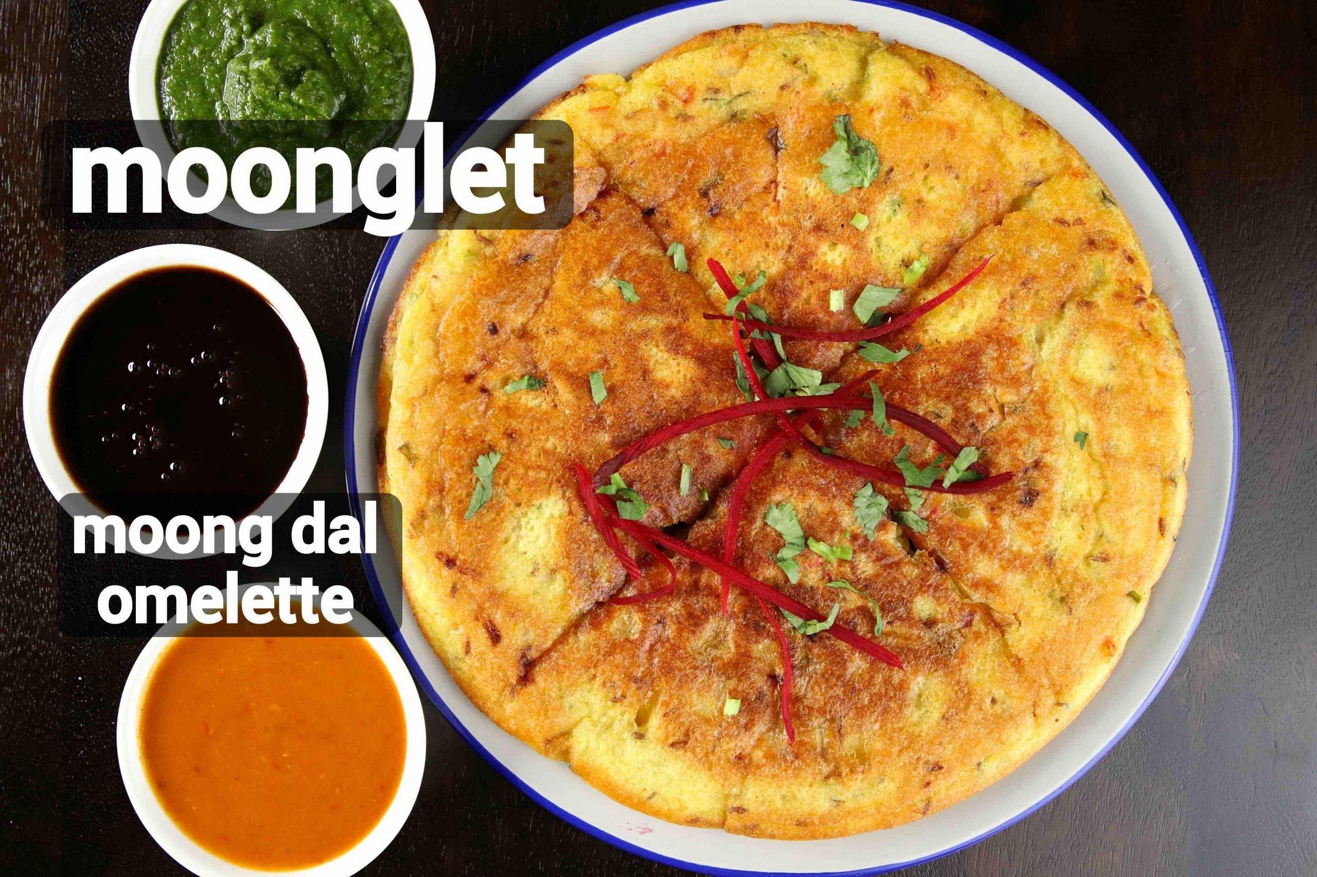 moonglet recipe | moong dal omelette recipe | mung bean omelette
