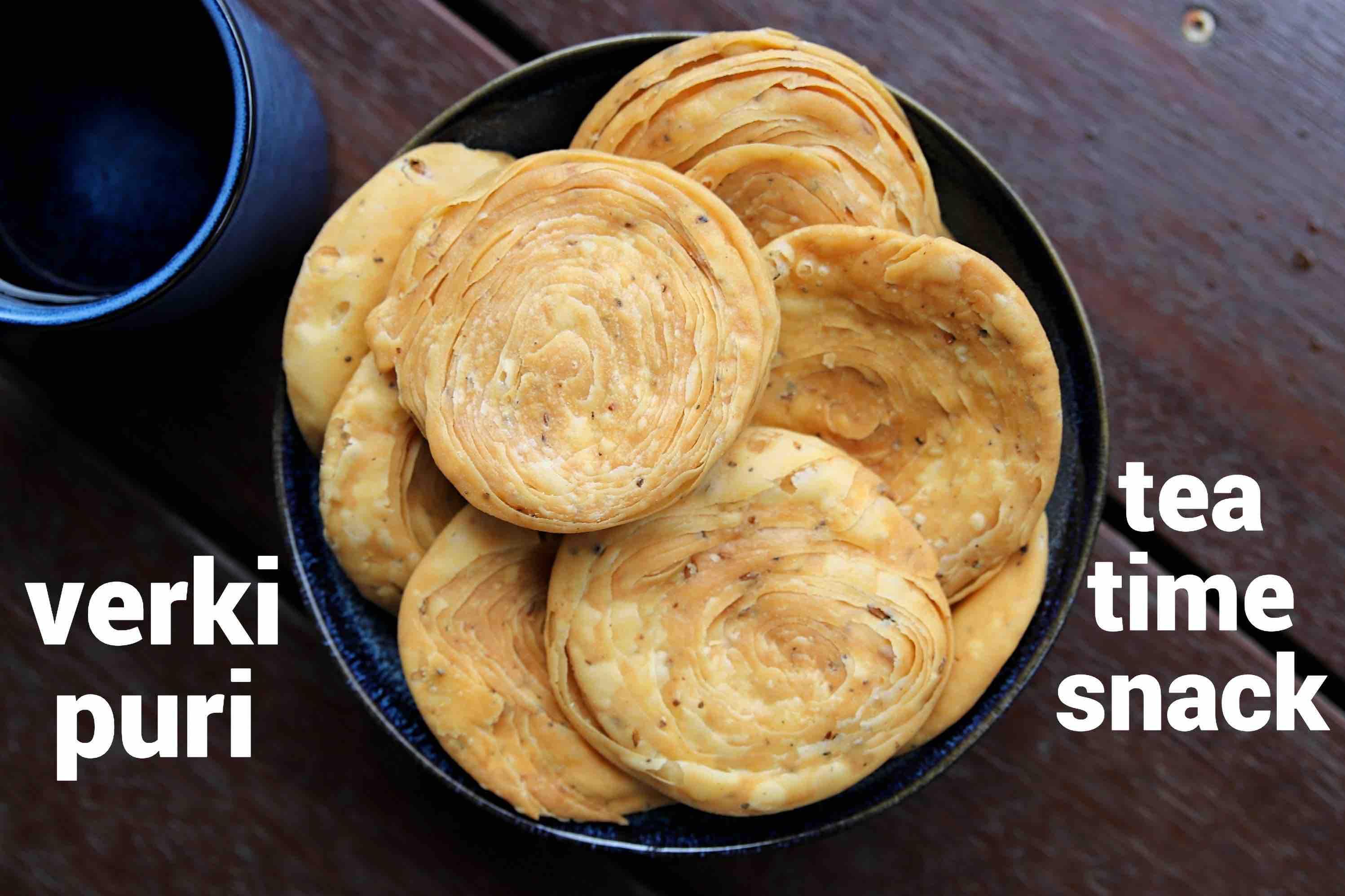 verki puri recipe   how to make crispy varki puri   verki snack