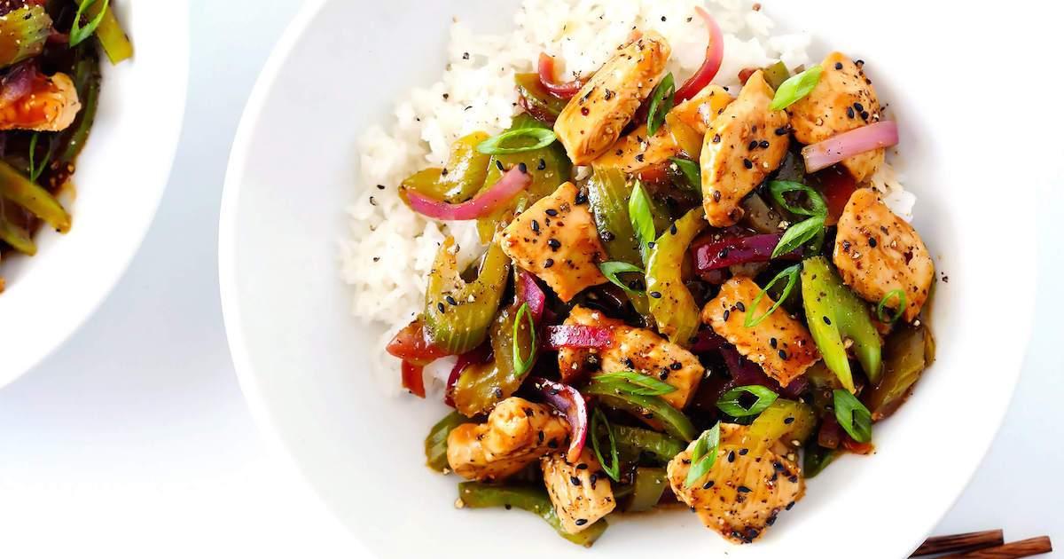 Chinese Pepper Chicken Recipe (Hindi)