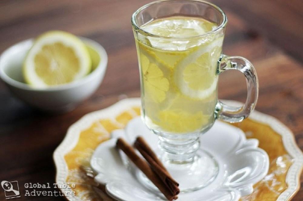 Hot Honey Lemon With Vodka