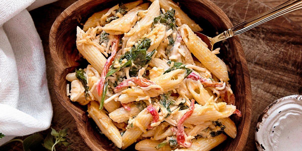 One-Pot Zucchini Mushroom Pasta
