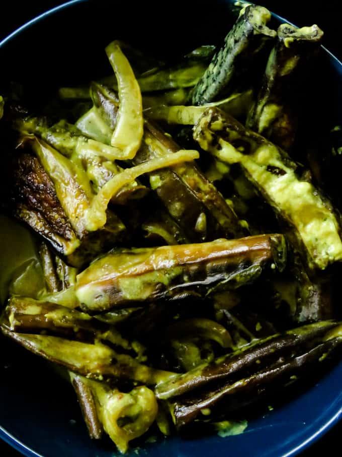 Sri Lankan creamy (brinjal)eggplant curry.
