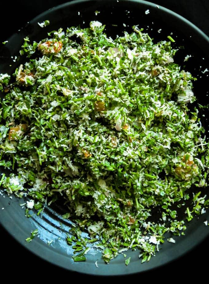 gotu kola(pennywort salad)sambol.