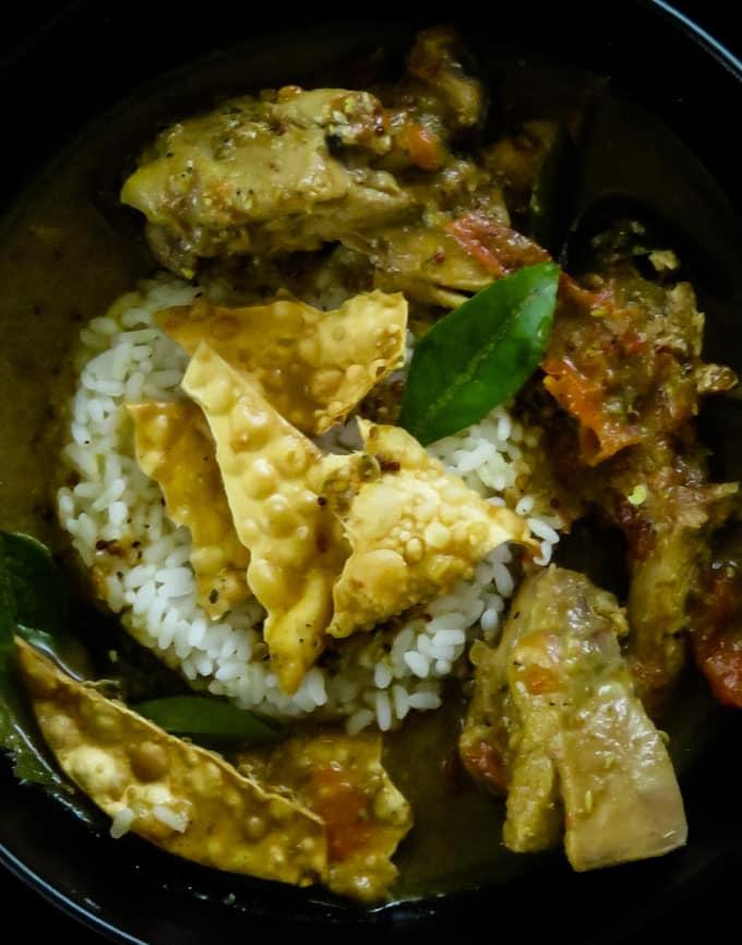 Indian chicken rasam(chicken-black pepper soup).