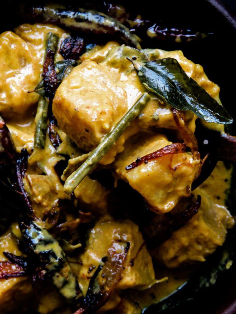 Sri Lankan breadfruit/del curry(vegetarian, Vegan).