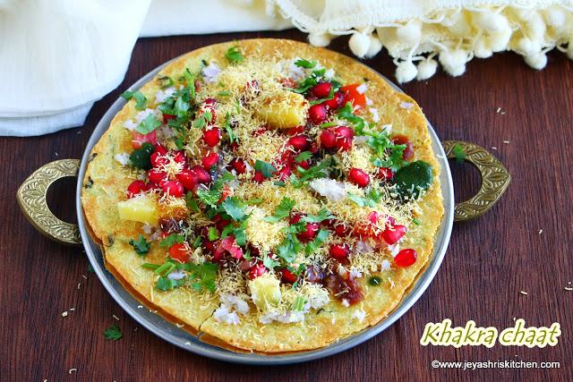 Khakra chaat recipe
