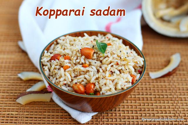 Kopparai sadam , Dry coconut rice recipe
