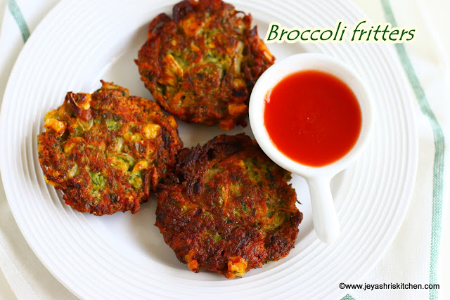 Broccoli fritters,  Preethi Zodiac mixie review