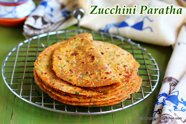 Zucchini paratha recipe, Paratha recipes
