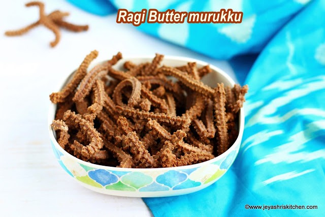 Ragi Butter Murukku recipe,Murukku recipes