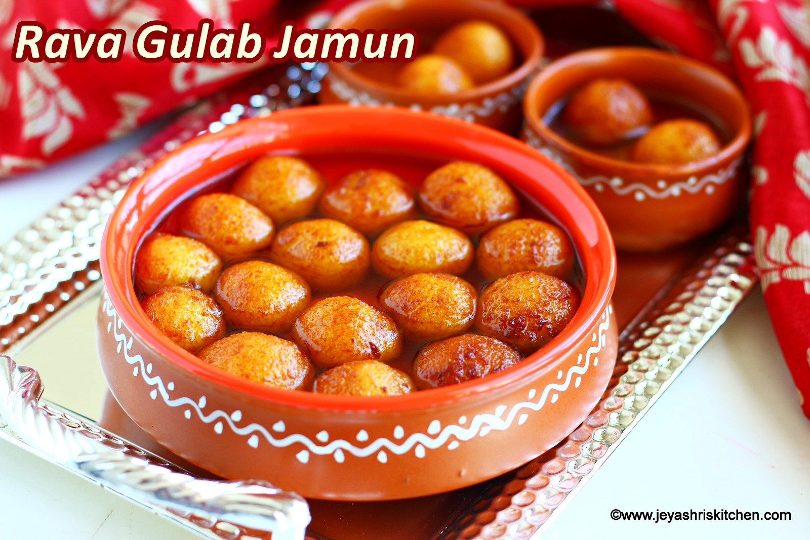 Rava Gulab Jamun recipe, Diwali Sweets