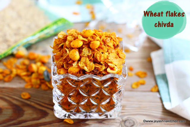 Wheat flakes chivda recipe, Healthy Diwali snacks