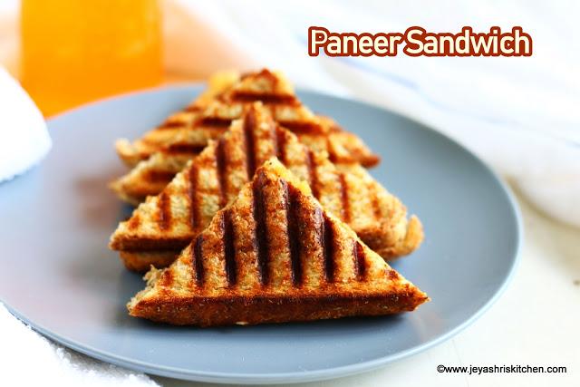 Paneer Sandwich, Easy Sandwich recipes