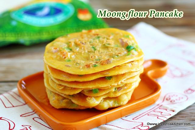 Savoury Pancake recipe, Moong flour pancake