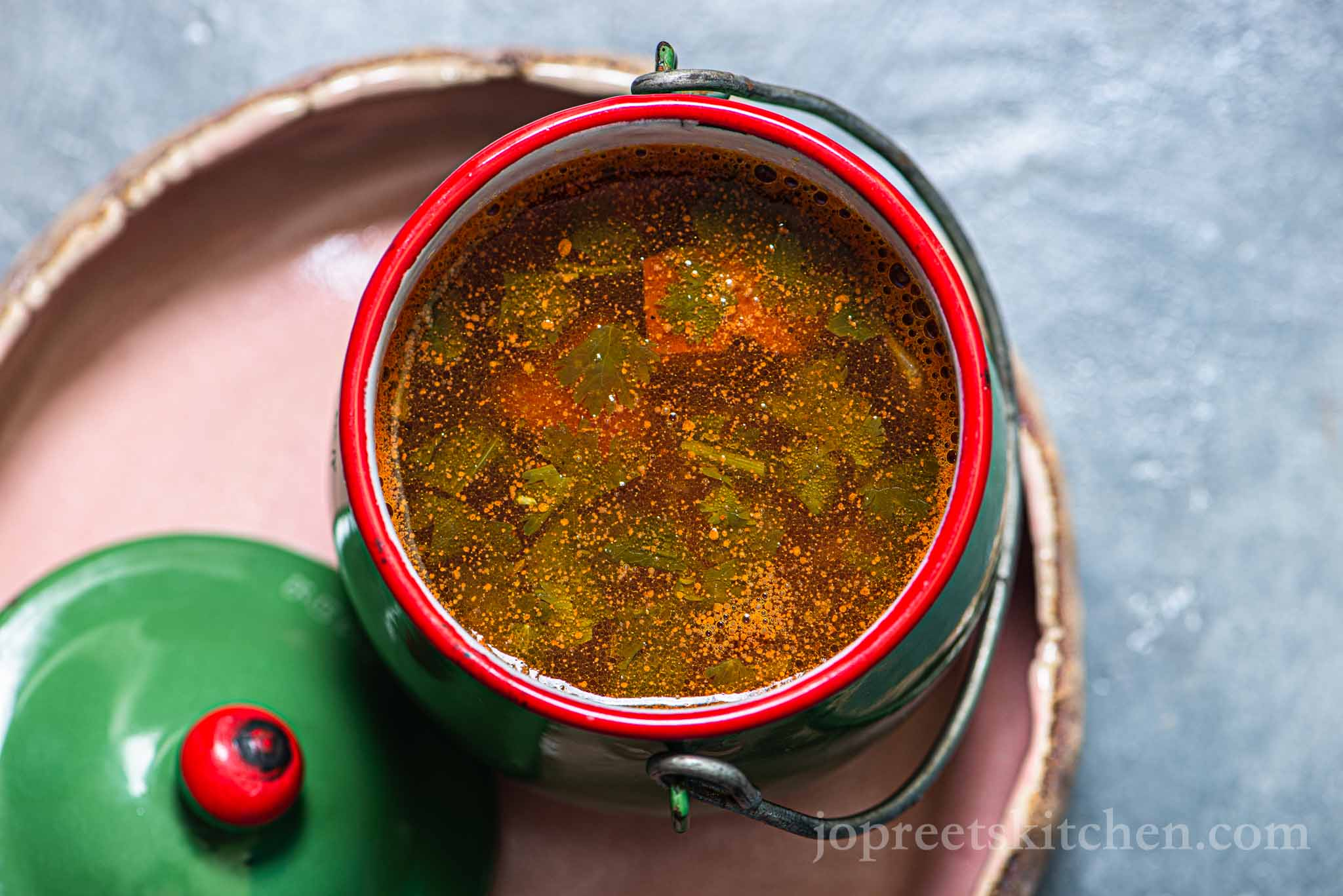 Tomato Rasam   Thakkali Paruppu Rasam