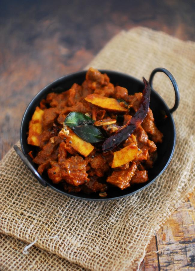 Beef Peralan (Kerala Style Beef Roast)