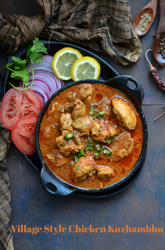 Village Style Chicken Kuzhambhu