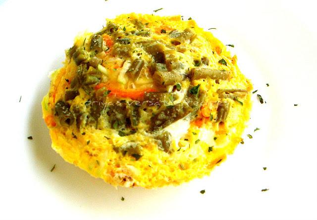 Vegetable Omelette~~Microwave Version