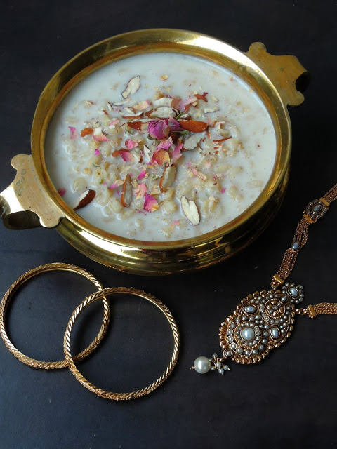 Whole Wheat Berries Kheer/Godhumai Paal Payasam/Wheat Berries Pudding