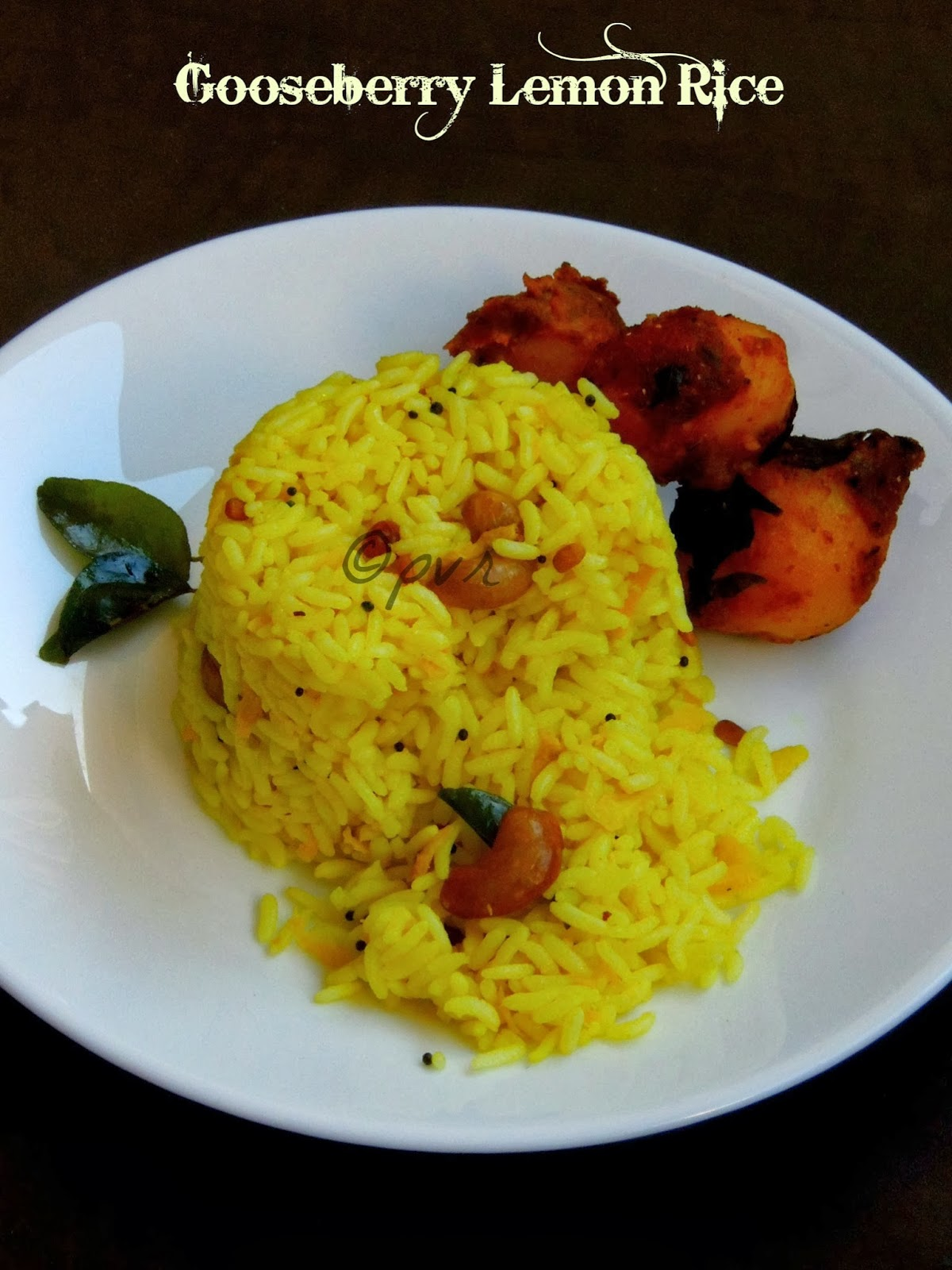 Gooseberry Lemon Rice