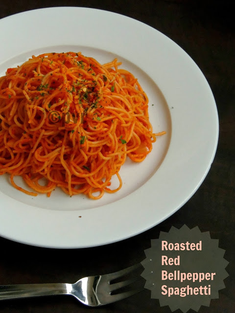 Roasted Red Bellpepper Spaghetti