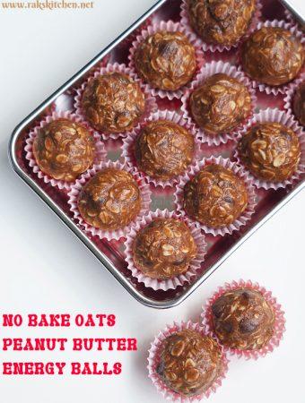 No bake oats energy balls, oats peanut butter energy bites
