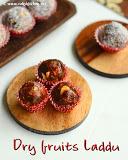 Dry fruits laddu recipe, dry fruits ladoo, no sugar Diwali recipes
