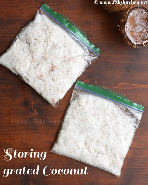 How to store coconut, freeze grated coconut