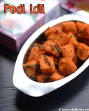 Podi Idli recipe, How to make podi idli
