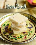 Rava burfi recipe, rava coconut burfi